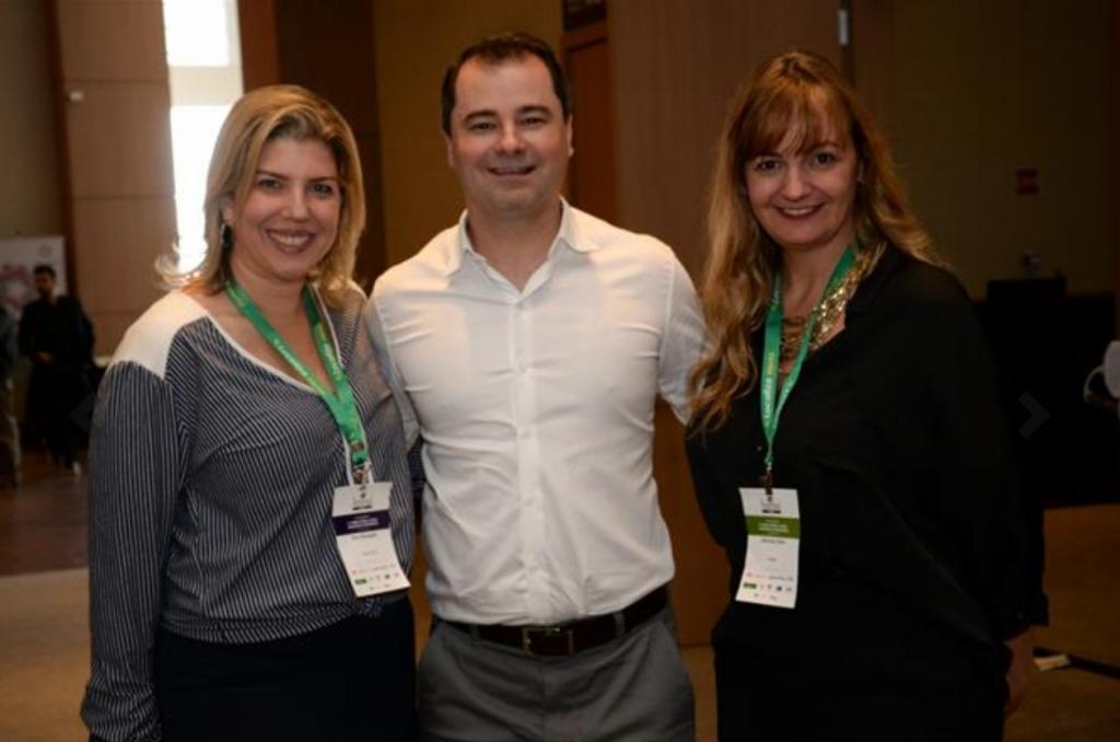 Ana Masagão (Royal Hall), Raffaele Cecere (R1) e Gabriela Otto (HSMAI)