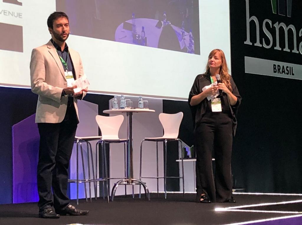 Fernão Loureiro (Philips) e Gabriela Otto (HSMAI)
