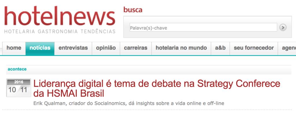 Liderança digital é tema de debate na Strategy Conferece da HSMAI Brasil