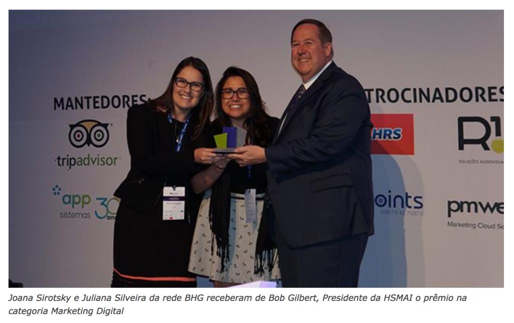HSMAI premia empresas do setor e anuncia agenda 2017