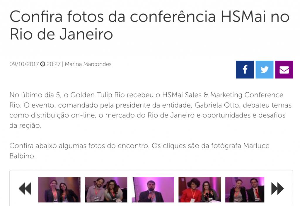 Confira fotos da conferência HSMai no Rio de Janeiro