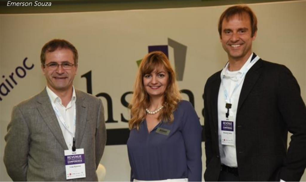 Luigi Rotunno (La Torre), Gabriela Otto (GO e HSMAI) e Alexandre Gehlen (Intercity)