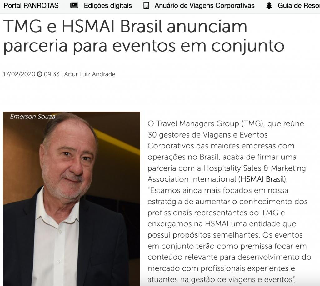 TMG e HSMAI Brasil anunciam parceria para eventos em conjunto