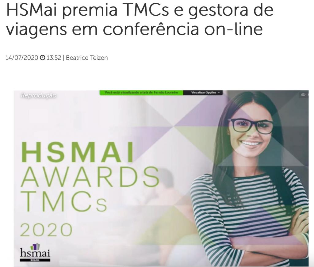 HSMAI premia TMCs e gestora de viagens em conferência on-line